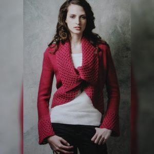 Colette Mordo magenta twist cardigan